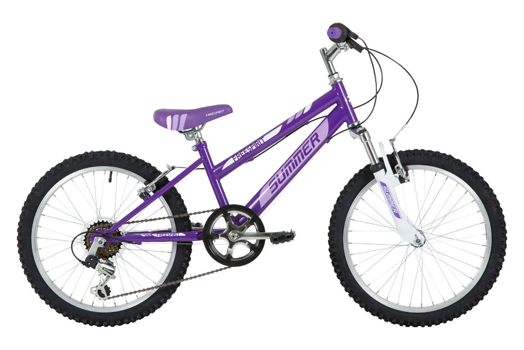 "Freespirit Summer 20"" Girls Mountain Bike Purple"