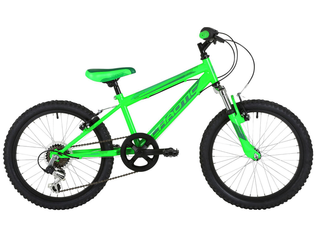 "Freespirit Chaotic 20"" Boys 6 Speed Mountain Bike Neon Green"