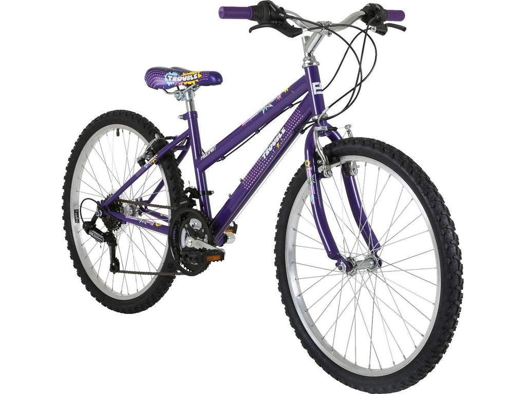 "Freespirit Trouble 24"" Girls 18 Speed Mountain Bike"