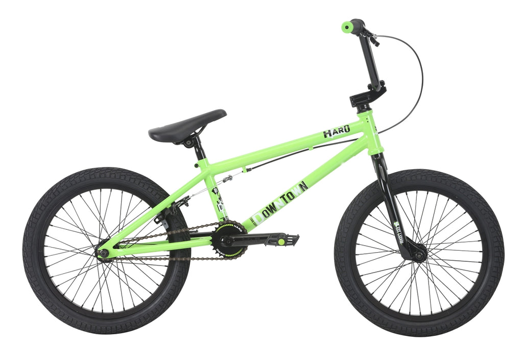 "2018 Haro Downtown 18"" Wheel BMX Bike 18""TT Gloss Lime"
