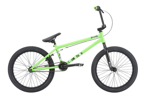 "2018 Haro Downtown 20"" Wheel BMX Bike Gloss Lime 20.3""TT"