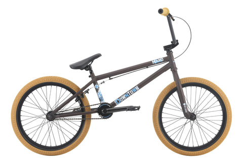 "2018 Haro Downtown 20"" Wheel BMX Bike Matte Rootbeer 20.3""TT"