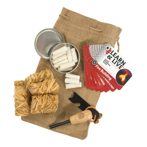 UST Heritage Campfire Fire Starter Kit & Bag