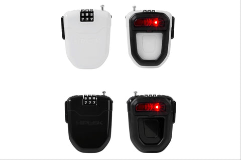 Hiplok FLX Retractable Combination Lock with Integrated Rear Light