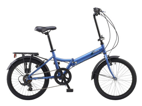 Insync Atom Unisex Folding Bike Matt Blue