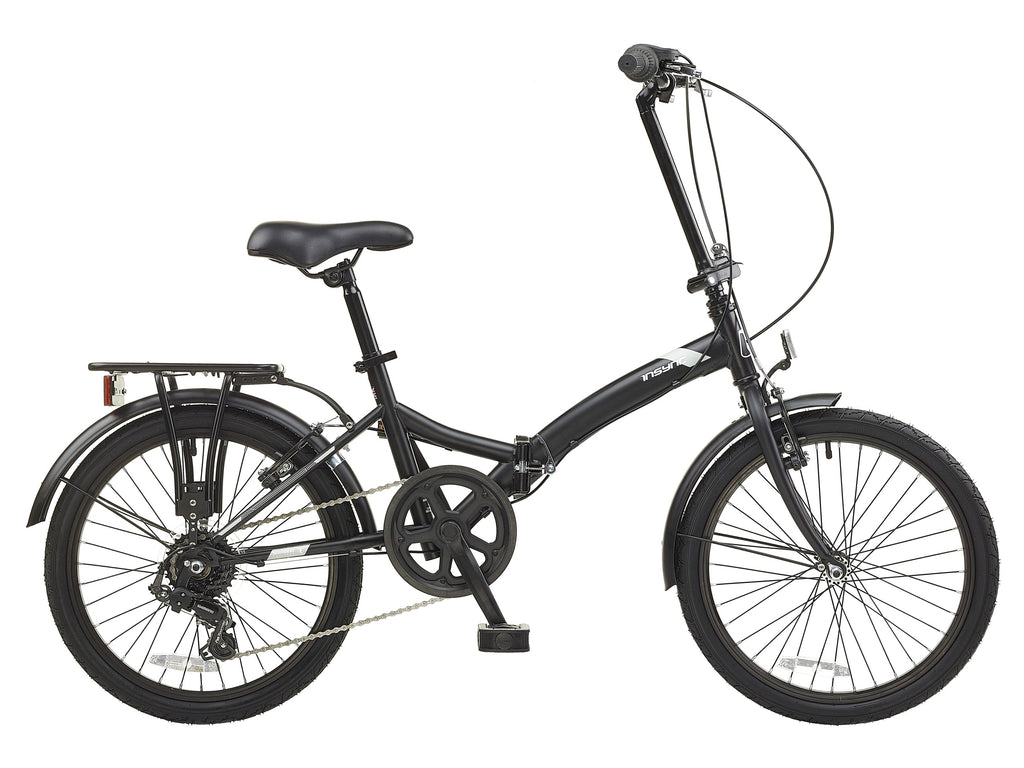 Insync Atom Unisex Folding Bike Matt Black