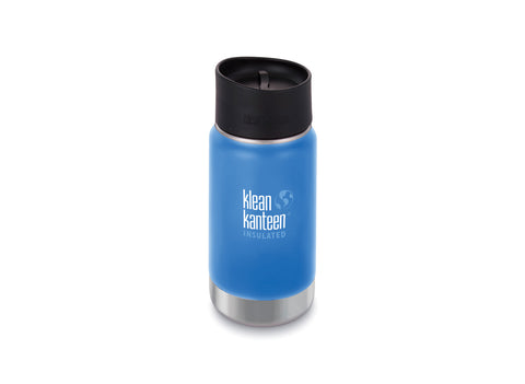 B Grade Klean Kanteen 355ml Wide Insulated Drinks Bottle (w Cafe Cap) Pacific Sky
