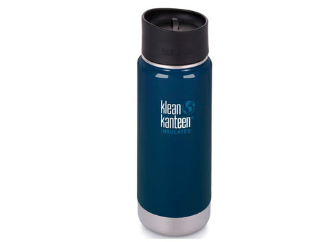 B Grade Klean Kanteen 473ml Wide Insulated Drinks Bottle (w Cafe Cap) Deep Sea