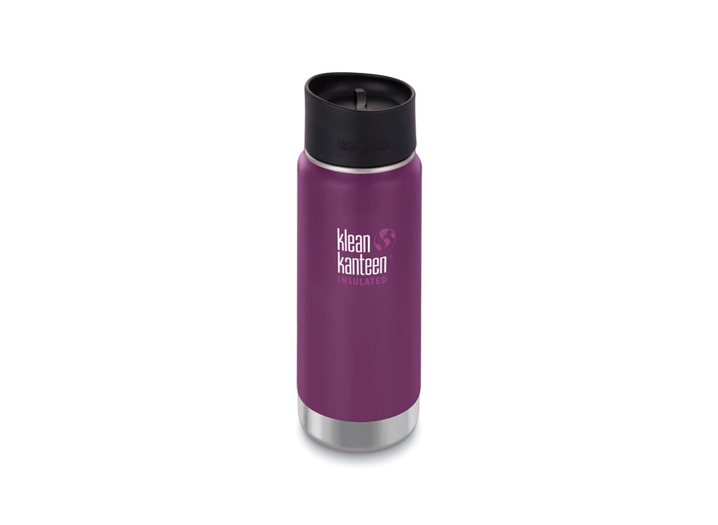 B Grade Klean Kanteen 473ml Wide Insulated Drinks Bottle (w Cafe Cap) Winter Plum