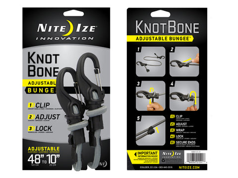 "KnotBone Adjustable Bungee/Elastic Luggage Strap #9 48"" to 10"""