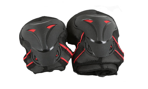 Kidzamo Hard Shield Knee And Elbow Pad Set Red Small 3-7 Years