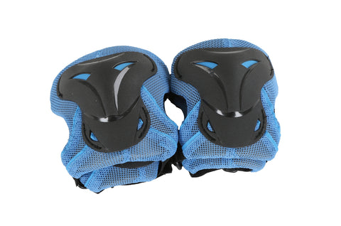 Kidzamo Hard Shield Knee And Elbow Pad Set Blue Small 3-7 Years