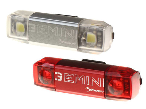 Moon Gemini Rechargeable Front & Rear COB LED Bike Lightset