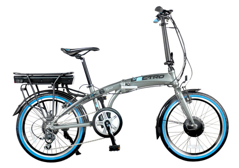 B Grade Lectro Rapide Folding 36Volt 250w 8 Speed Electric Bike