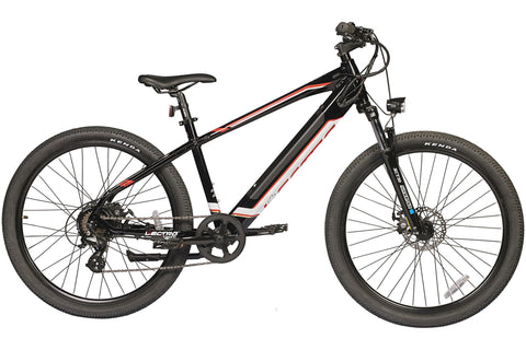 "Lectro Peak 17"" Gents 36Volt 250w 7 Speed Electric Mountain Bike Black"