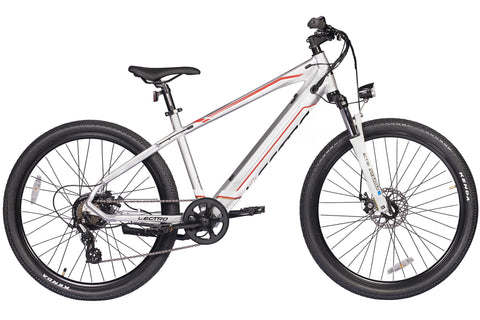 "Lectro Peak 18.5"" Gents 36Volt 250w 7 Speed Electric Mountain Bike Silver"