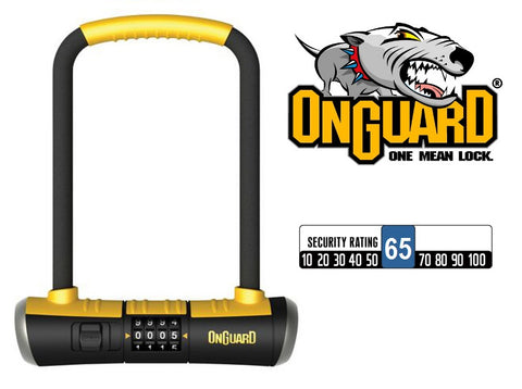 OnGuard Bulldog 8010C Combination Shackle Lock Bike D U Lock