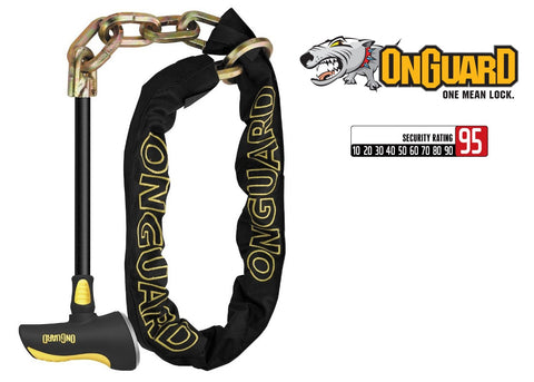 Onguard Beast Chain Bike Lock With Heavy Duty Steel Rod 8017LPT