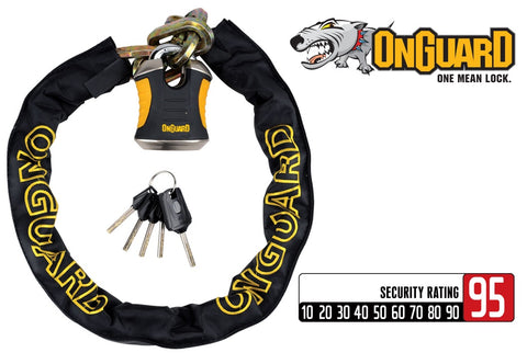 Onguard Beast Heavy Duty Bike Chain 12mm x 110cm with Padlock 8017