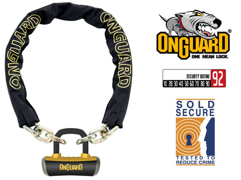 Onguard Mastiff 8019L Bike Chain U-Lock 180cm x 10mm