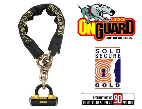 OnGuard Mastiff 8019LP Bike Chain Loop Lock 130cm x 10mm