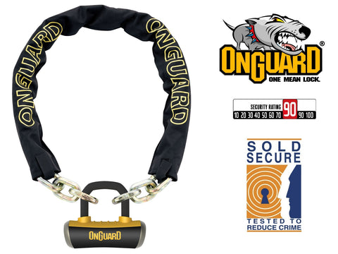 Onguard Mastiff 8019 Bike Chain U-Lock 110cm x 10mm