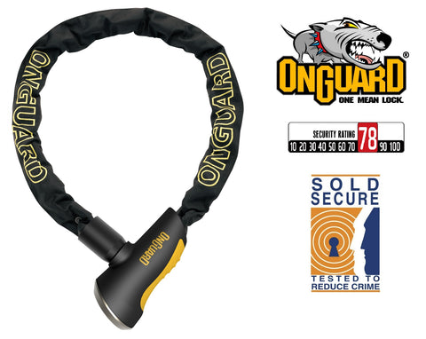 Onguard Mastiff 8021 Bike Chain Key Lock 180cm x 10mm