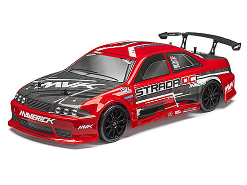 Maverick Strada Red DC Radio Controlled 1/10 RTR Brushless Electric Drift Car