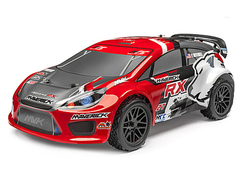 Maverick Strada Red RX Radio Controlled 1/10 RTR Brushless Electric Rally Car