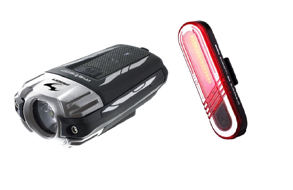 Moon Meteor Front Crescent Rear USB Rechargeable Bicycle Lightset