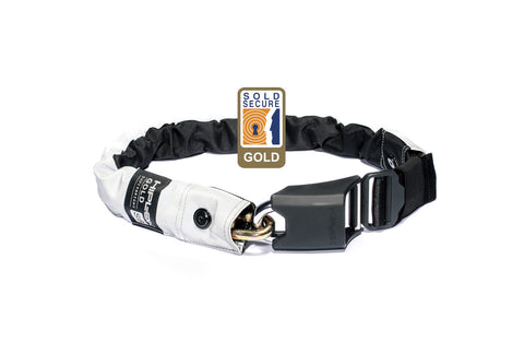 Hiplok Gold Wearable Chain Lock 10mm x 85cm High Visibility