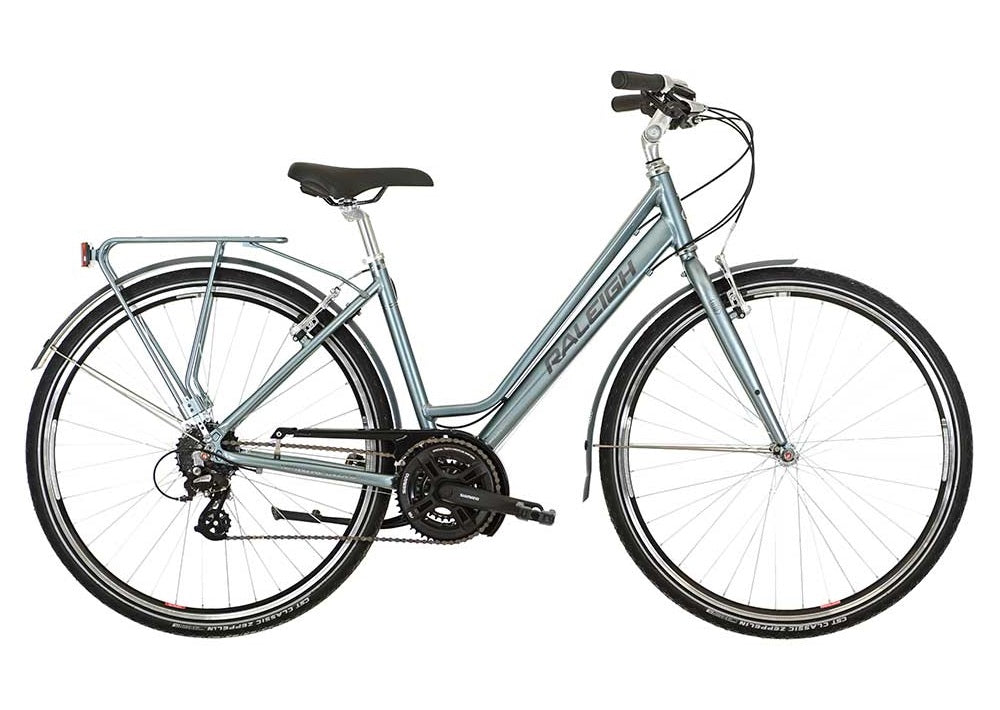2016 Raleigh Pioneer 2 Womens Aluminium Hybrid Bike Sea Green