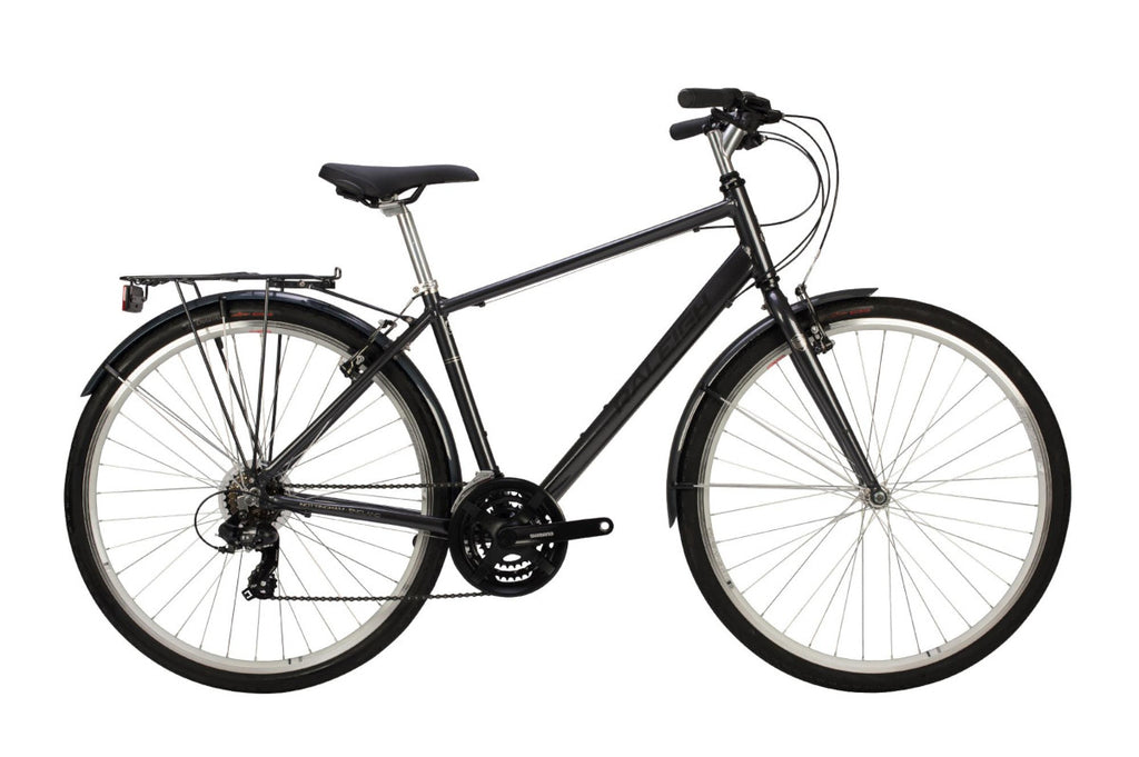 "B Grade Raleigh Pioneer 19"" Mens 700C 21SPD Bicycle Graphite"