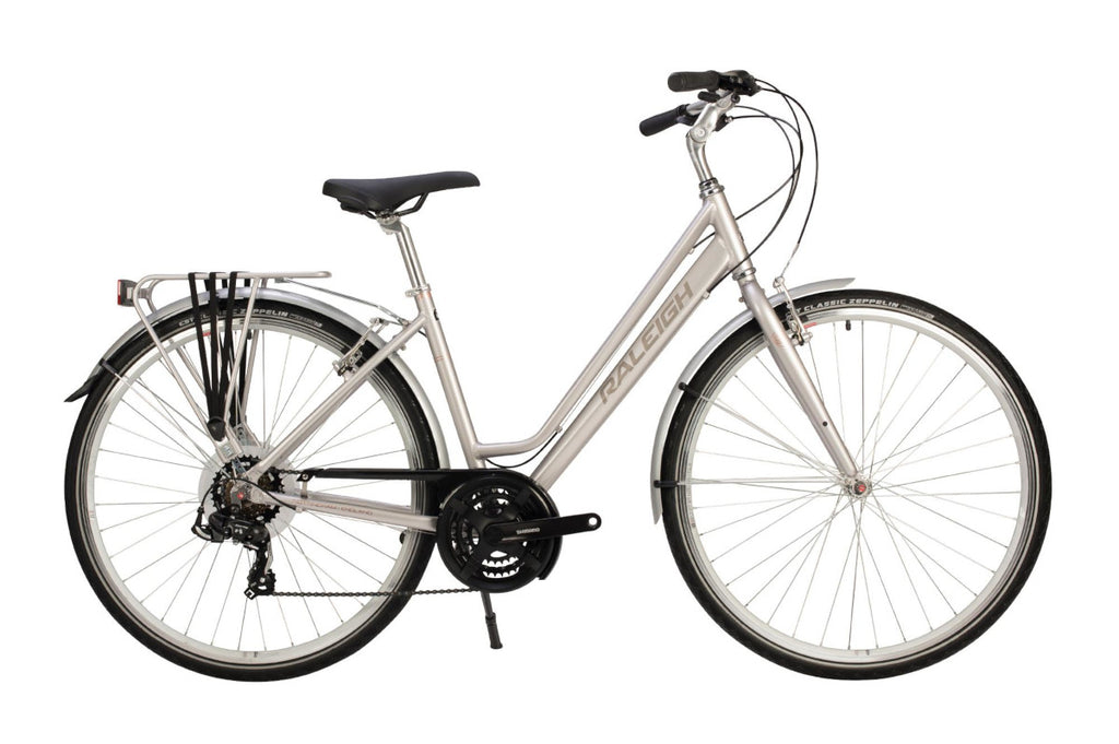 "B Grade Raleigh Pioneer Tour 18"" Womens 700C 21SPD Bicycle Silver"