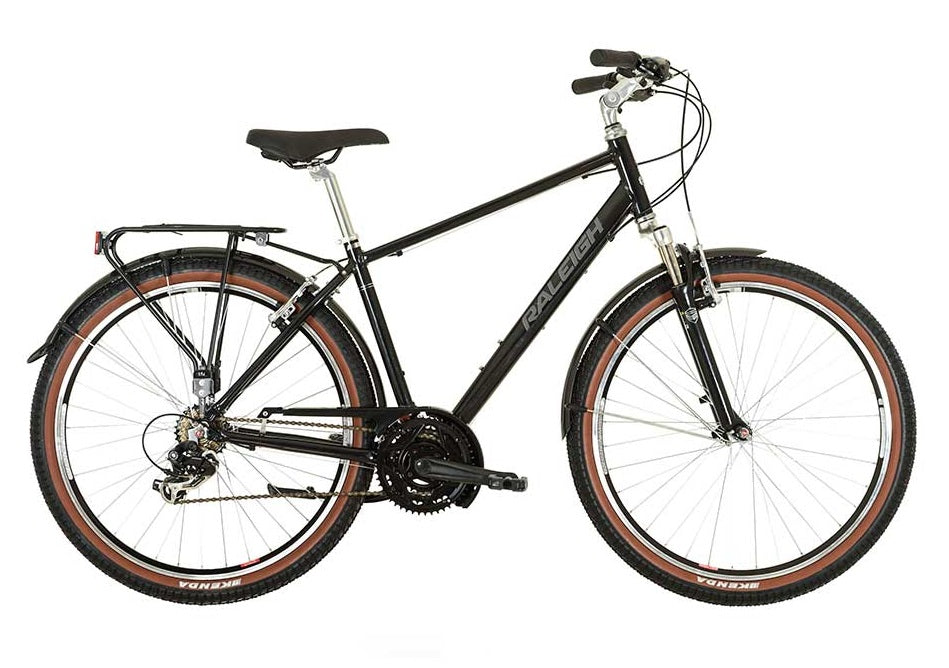 Raleigh Pioneer Trail Gents Aluminium Hybrid Bike Black