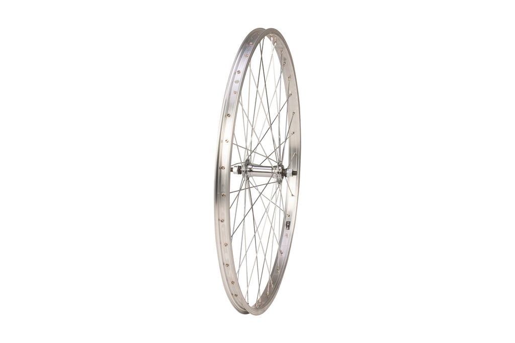 "Tru-build Wheels 26 x 1.75"" Front Wheel, alloy hub, Silver"