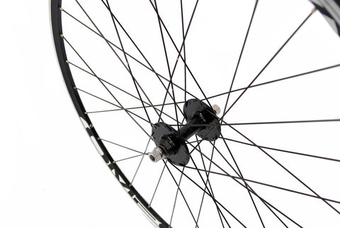 700c Fixie Front Wheel with Omega Rim Track Hub Black