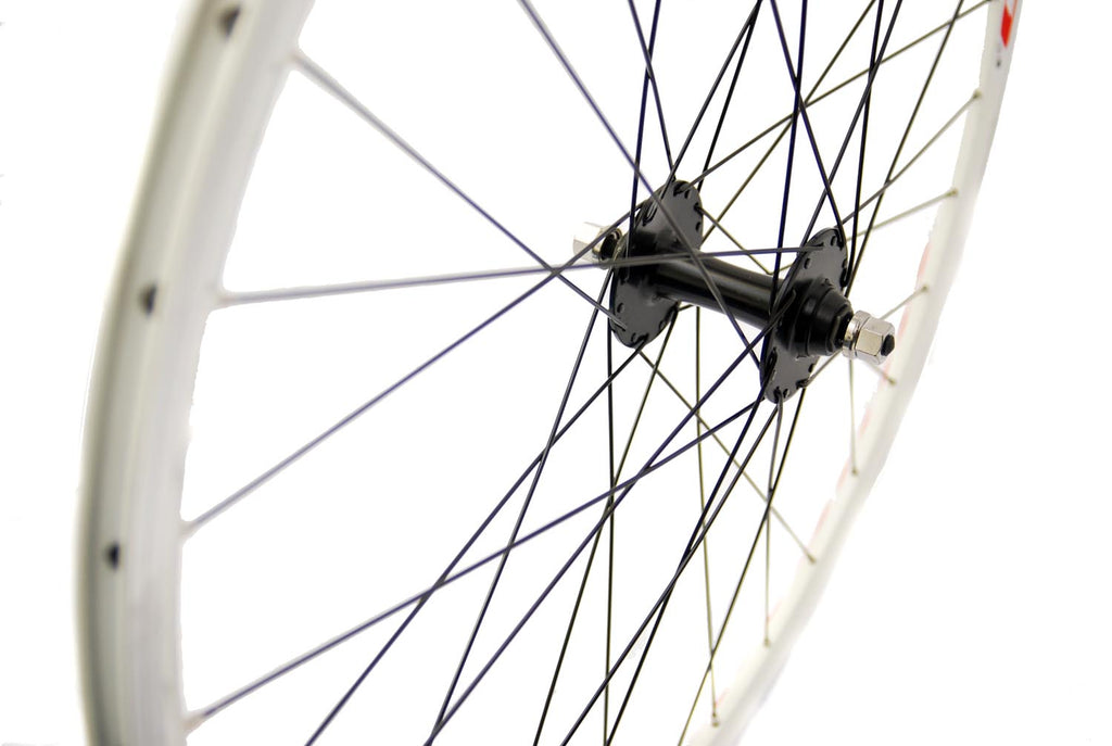 700c Fixie Front Wheel with Omega Rim Track Hub White