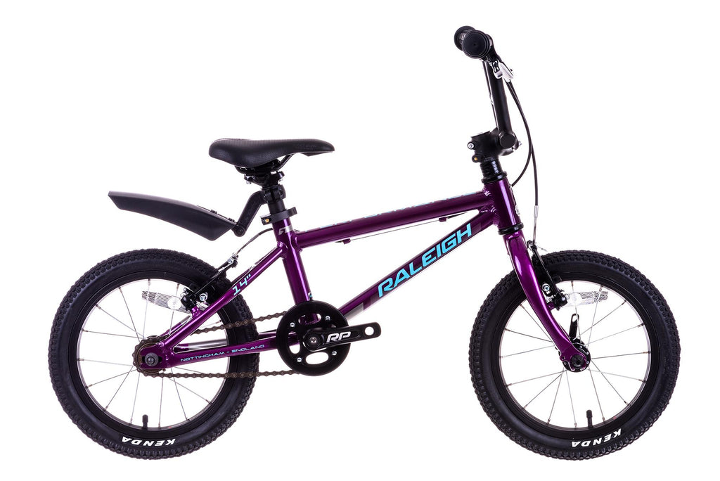 "Raleigh Performance 14 Mountain Bike 14"" Wheel Boys Purple"