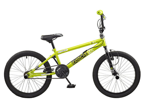 Rooster Radical 20 BMX Bike Green/Black with Spoke Wheels