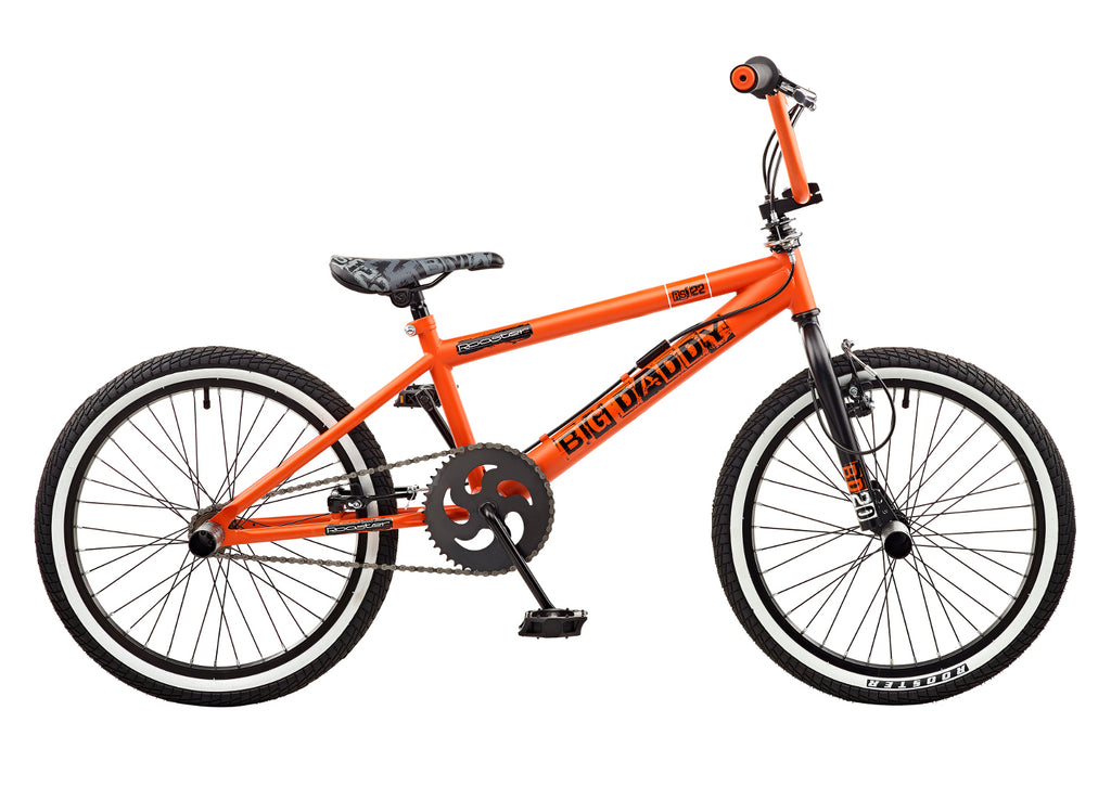Rooster Big Daddy 20 BMX Orange/Black with Spoke Wheels