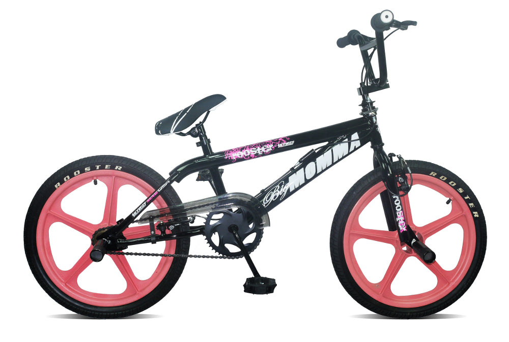 B Grade Rooster Big Momma BMX Black with Pink Skyways