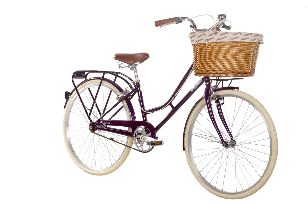"B Grade Ryedale Harper 26"" Wheel Ladies Single Speed Traditional Bike Blackcurrant 17"""