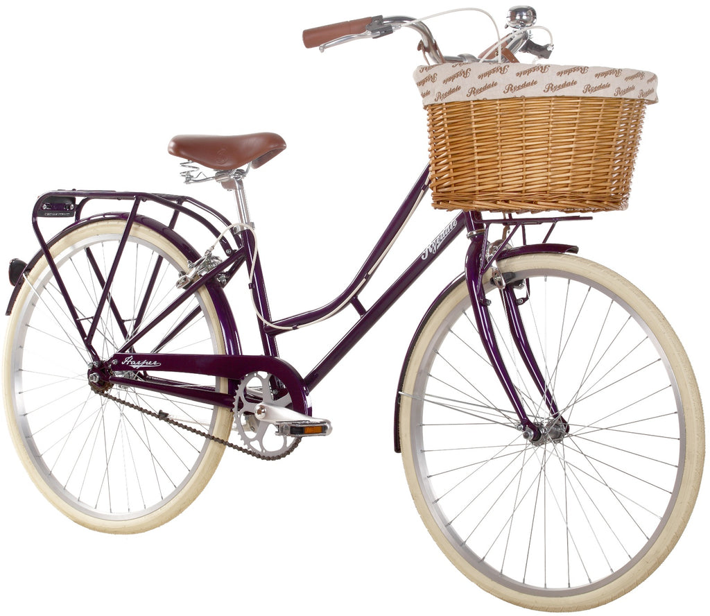 "Ryedale Harper 26"" Wheel Ladies Single Speed Traditional Bike Blackcurrant"