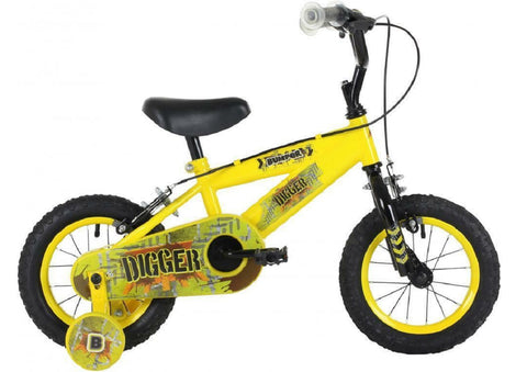 "Bumper Digger Boys 12"" Mountain Bike 3 to 5 years"