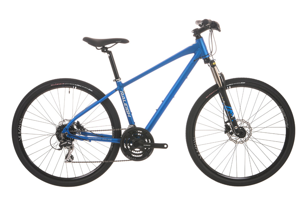 Raleigh Gents Strada TS 2 650b Wheel Matte Blue Hybrid Bike