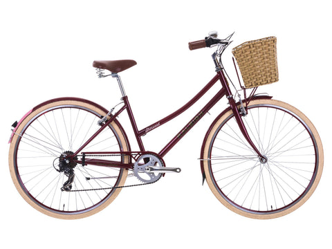 "B Grade 2017 Raleigh Sherwood 21"" Ladies Classic Lifestyle Traditional Bike Cherry"