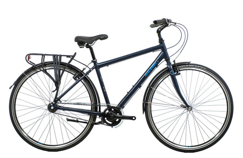 "B Grade Raleigh Pioneer 3 19"" Frame 700C Wheel Gents Aluminium Hybrid Bike Blue"