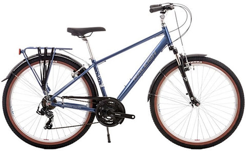 "B Grade Raleigh Voyager Trail 17"" Gents 21 Speed 650b Hybrid Bike Blue"