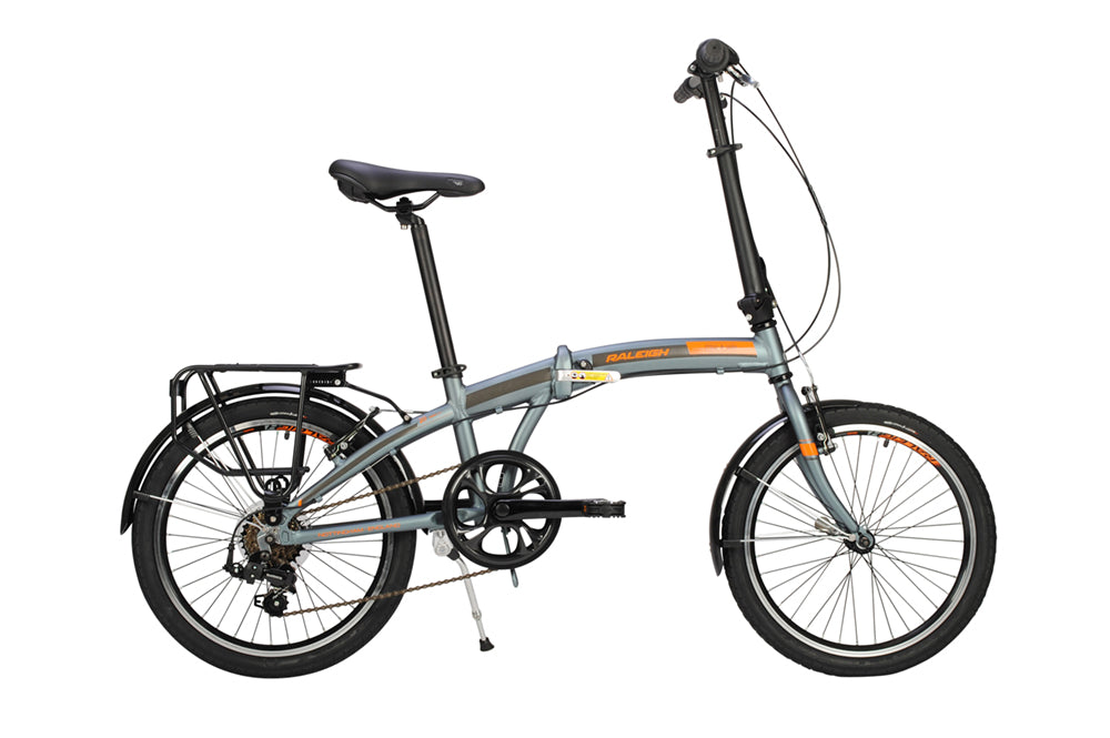 B Grade Raleigh Stowaway 7 Speed Folding Lightweight Shopping Bike Grey